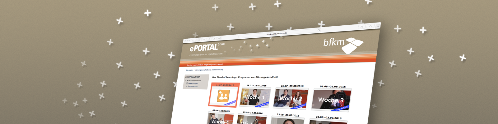 eLearning mit eigenem ePortal